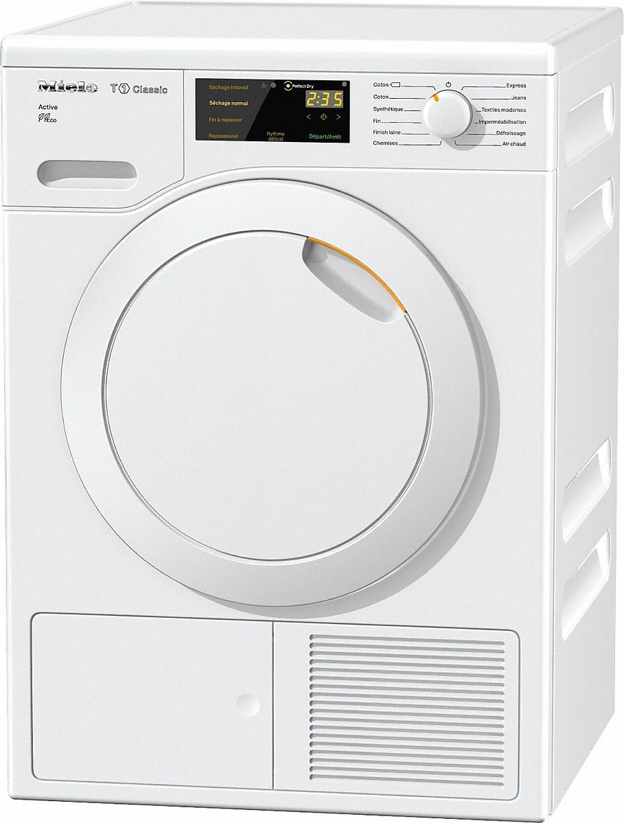 s che linge miele tdb220wp active pompe chaleur jaude m nager. Black Bedroom Furniture Sets. Home Design Ideas